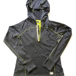 REI 1/4 Zip Athletic Hoodie Gray Size Medium